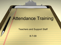 Attendance Procedures - Cookeville High School