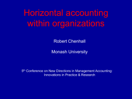 Horizontal accounting within organization