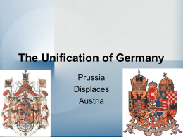 German Unification - The British Empire
