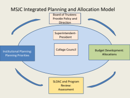 Integrated Institutional Planning Model