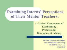 Examining Interns` Perceptions of Their Mentor Teachers
