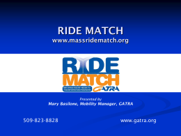 What is Ride Match?