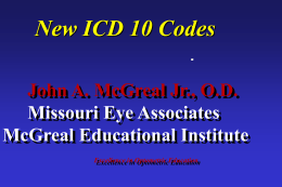 New ICD-10 Codes Handout