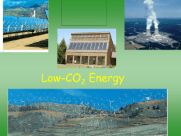 Energy Resources Alternative Sources