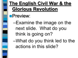 English Civil War. ppt
