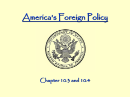America`s Foreign Policy