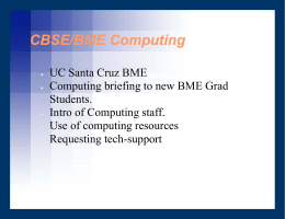 Computing at CBSE/BME