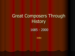 Great Composers Through History