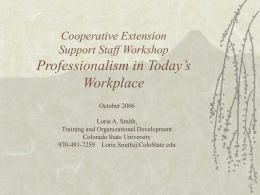 professional presence - Colorado State University Extension