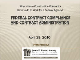 Federal contract compliance