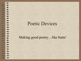 underline poetic devices