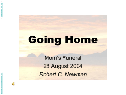 PowerPoint Presentation - Going Home