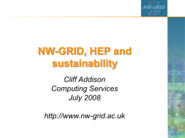 NW-GRID  - University of Liverpool