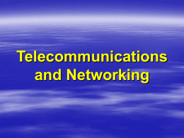 Telecommunications and Networking - University of Baltimore Home