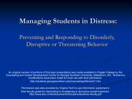 Managing Students in Distress