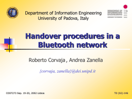 Table-based handover