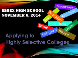 13 Selective Colleges ppt