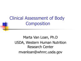 Clinical Assessment of Body Composition