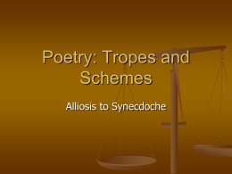 Poetry: Schemes and Tropes