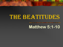 The Beatitudes - Sound Teaching