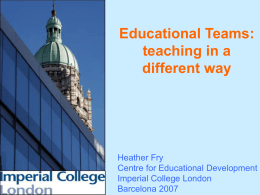 What is a teaching team?