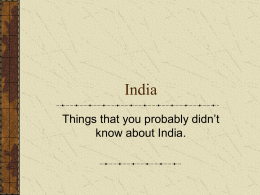 India Crazy facts