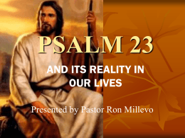 psalm 23 - End Time Message Info