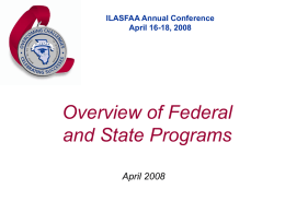 Overview of Federal and State Programs