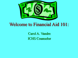 Welcome to Financial Aid 101: