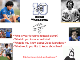Diego Maradona - Amir`s English Club