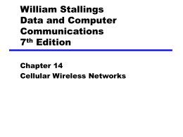 Chapter 14 Cellular Wireless Networks