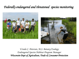 Federally Endangered and Threatened Species Monitoring