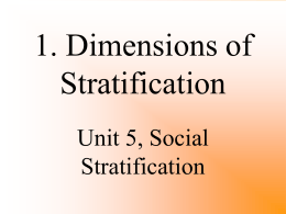 1. Dimensions of Stratification