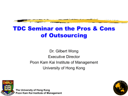 The Pro`s and Con`s of Outsourcing