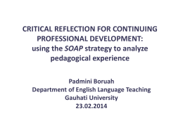using the SOAP strategy to analyze pedagogical