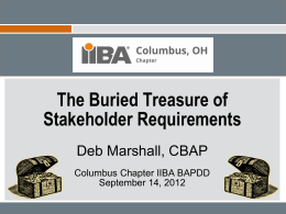 Presentation Title - IIBA® Columbus, Ohio Chapter