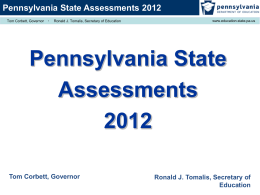 Pennsylvania State Assessments 2012