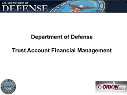 DOD Trust Fund Financial Management