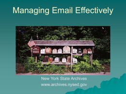 Managing Email Effectively