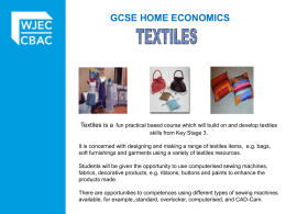 Unit 2: Textiles and Fashion Practical Tasks