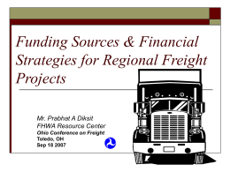 Innovative Financing for Freight Projects