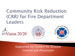 Community Risk Reduction for Fire Department Leaders