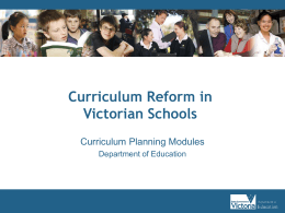 Curriculum Reform in Victorian Schools