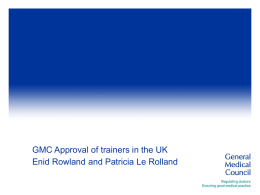 Existing Standards for trainers