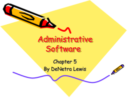 Administrative Software