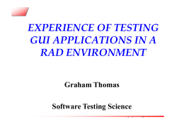 experience of testing gui applications in a rad