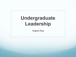 Undergraduate Leadership