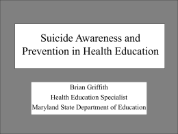 Correlate the VSC with suicide awareness and prevention