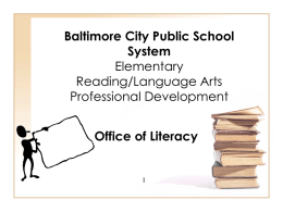 Baltimore City Public School System IST Professional