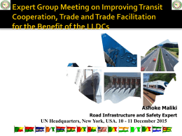 Infrastructure Dept Presentatation Aug 2012 - UN